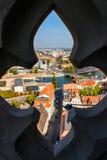 Oude stad van Wroclaw in Polen, de mening van het vogeloog van kleurrijke daken van oude stad stock foto