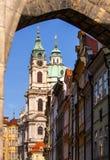 Oude Stad Vierkante St Nicholas Church, in de Tsjechische Republiek Royalty-vrije Stock Afbeeldingen