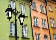 Oude Stad in Warshau, Polen stock afbeeldingen