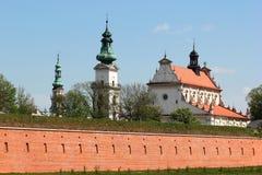 Oude stad in Zamosc, Polen stock foto