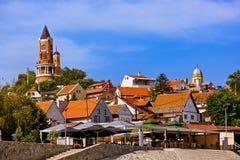 Oude stad Zemun - Belgrado Servië Royalty-vrije Stock Foto's