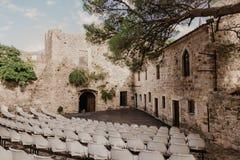 Oude stadsbar in Montenegro - Beeld royalty-vrije stock afbeeldingen