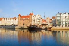Oude stadsdijk, Gdansk Royalty-vrije Stock Fotografie