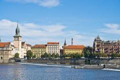 Oude stadsgebouwen, Praag, Chez-republiek Royalty-vrije Stock Afbeeldingen