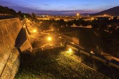 Oude stadsmuren in Pamplona Stock Fotografie