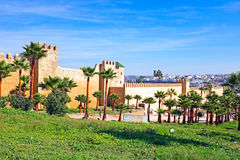 Oude stadsmuren in Rabat, Marokko Royalty-vrije Stock Foto