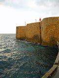 Oude stadsmuren van Akko, Israël stock afbeelding