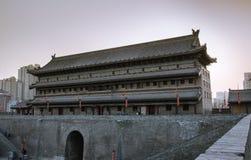 oude stadsmuur in de zweempjedynastie van de stad van China in Shanxi-Provincie Stock Afbeelding