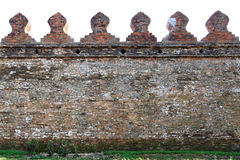 Oude stadsmuur van Thailand Stock Afbeelding
