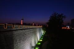 Oude stadsmuur van xi'an Stock Foto