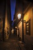 Oude stadsopen plek van Praque bij nacht Royalty-vrije Stock Afbeelding