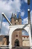 Oude stadspoort en ophaalbrug in Zierikzee Royalty-vrije Stock Fotografie