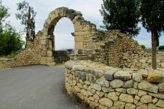 Oude stadsruïnes, Volubilis, Marokko Stock Fotografie