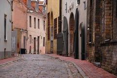 Oude stadsstraat Stock Fotografie