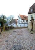 Oude stadsstraat Duitsland Stock Afbeeldingen