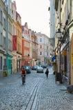 Oude stadsstraten poznan Stock Foto's