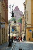 Oude stadsstraten poznan Royalty-vrije Stock Fotografie