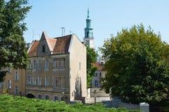 Oude stadsstraten poznan Royalty-vrije Stock Afbeelding