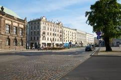 Oude stadsstraten poznan Stock Afbeelding