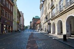 Oude stadsstraten poznan Royalty-vrije Stock Afbeeldingen