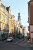 Oude stadsstraten poznan Royalty-vrije Stock Foto