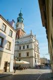 Oude stadsstraten poznan Royalty-vrije Stock Foto's