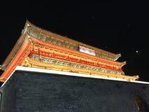 Oude stadstoren in Xi ', Shaanxi-Provincie royalty-vrije stock afbeelding