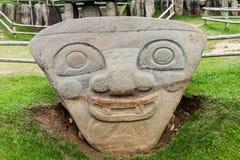 Oude standbeelden in archeologisch park in San Agustin royalty-vrije stock afbeelding