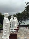 Oude standbeelden en beeldhouwwerken van Azië royalty-vrije stock foto