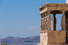 Oude Standbeelden in Griekenland Vrouwen stock foto