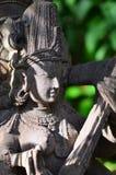 Oude standbeelden van tempel Royalty-vrije Stock Afbeeldingen