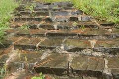 Oude stappen Stock Foto