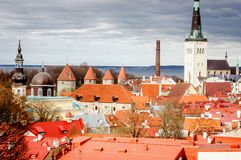 Oude steden in Europa stock afbeelding