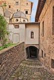 Oude steeg in Bolsena, Viterbo, Lazio, Italië Royalty-vrije Stock Foto