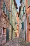 Oude steeg in Brisighella, Emilia Romagna, Italië Royalty-vrije Stock Foto's