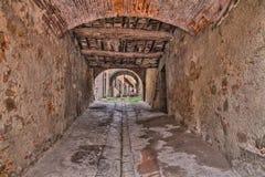 Oude steeg in Castiglion Fiorentino, Arezzo, Toscanië, Italië Royalty-vrije Stock Afbeeldingen