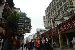 Oude steeg in de stad van Tchang-cha Stock Afbeelding