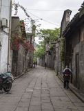 Oude steeg in Sichuan, China stock afbeelding