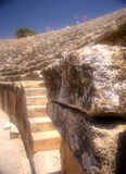 Oude steen in amphitheatre Royalty-vrije Stock Foto