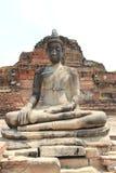Oude Steen Boedha bij Watyaichaimongkol-Tempel in Ayudhaya, Th Stock Afbeelding
