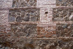 Oude steen en bakstenen muur backgraund Royalty-vrije Stock Afbeeldingen