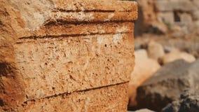 Oude steen met gravure in Lyrboton stock video