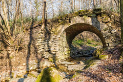 Oude steenbrug Royalty-vrije Stock Fotografie