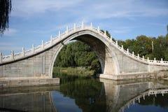 Oude steenbrug in het Paleis van de Zomer (Peking) Royalty-vrije Stock Fotografie
