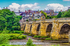 Oude Steenbrug over de Rivier de Tyne in Corbridge Royalty-vrije Stock Afbeelding