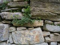 Oude steenmuur Royalty-vrije Stock Foto's