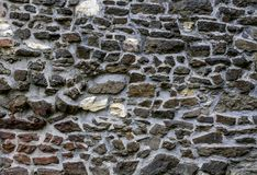 Oude steenmuur als achtergrond of textuur Royalty-vrije Stock Afbeeldingen