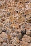 Oude steenmuur Metselwerk van oude stenen en bakstenen Mooie achtergrond Royalty-vrije Stock Foto