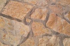 Oude steenmuur Ruwe stenen van verschillende vormen Zeer gedetailleerd en echt Royalty-vrije Stock Foto