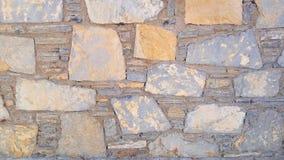Oude steenmuur Ruwe stenen van verschillende vormen Zeer gedetailleerd en echt Stock Afbeelding